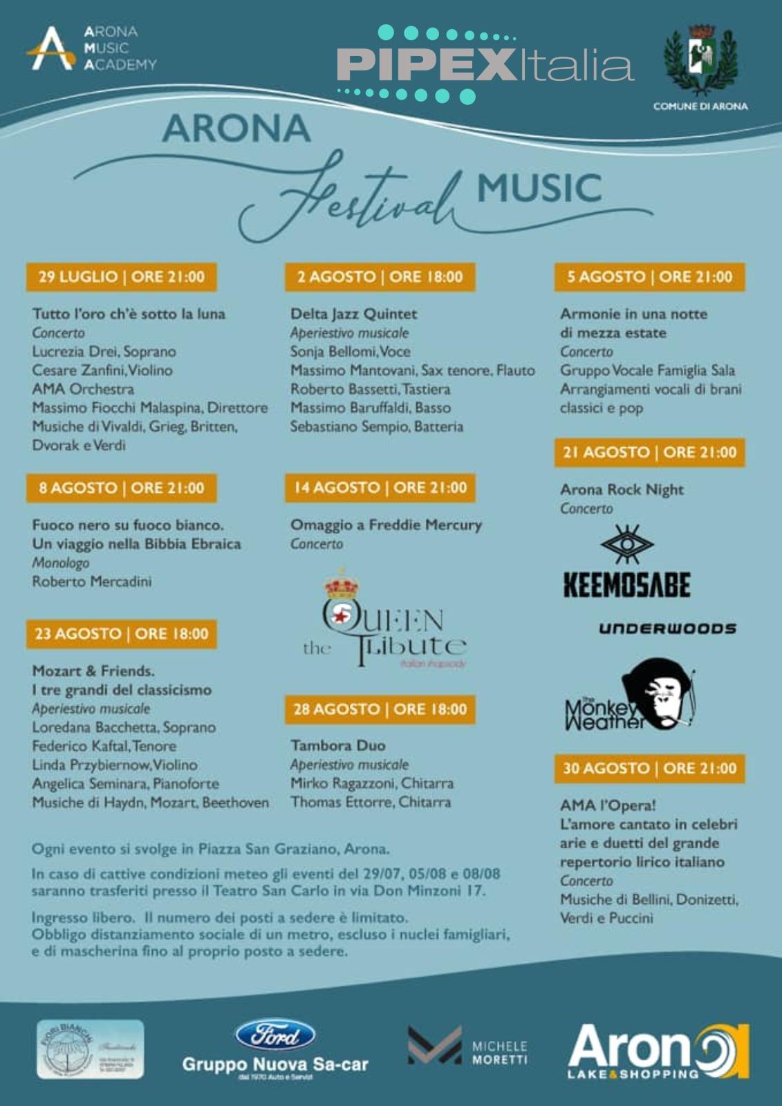 Locandina arona music festival