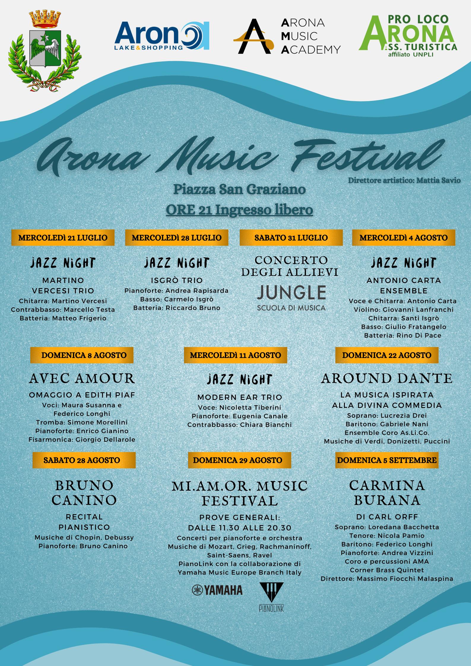 Locandina Arona Music Festival 2021